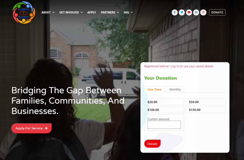 Taxi Mom Families – A non profit company that bridges the gap between families, communities, and businesses.